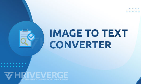 Image to text converter